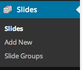 Slides Menu (WooSlider not installed)