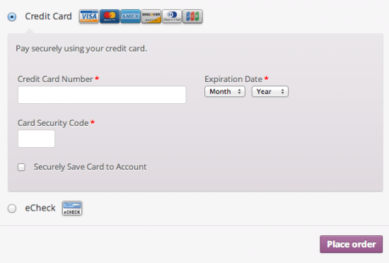 WooCommerce NETbilling Payment Gateway Extension Checkout