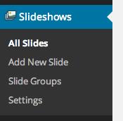 Slideshow menu with WooSlider installed