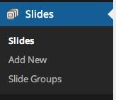 Slideshow menu without WooSlider