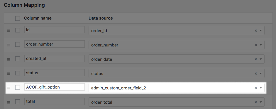 WooCommerce Custom Order Fields: add field to custom CSV export