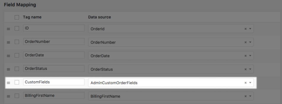 WooCommerce Custom Order Fields: add field to custom XML export