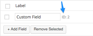 WooCommerce Admin Custom Order Fields field id