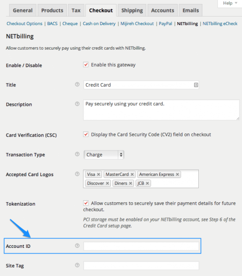 WooCommerce NETbilling Payment Gateway Extension Settings