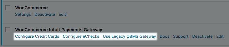 WooCommerce Intuit Payments: Switch to legacy gateway