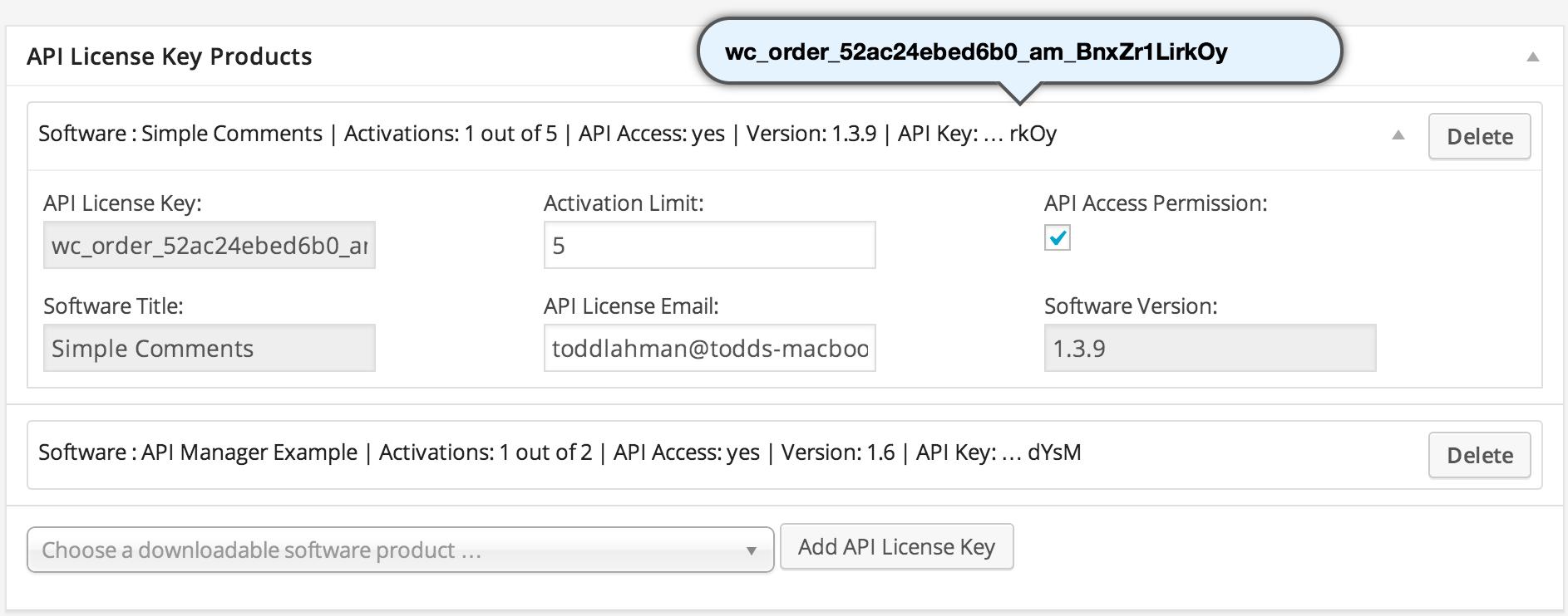 WooCommerce API Manager - WooCommerce