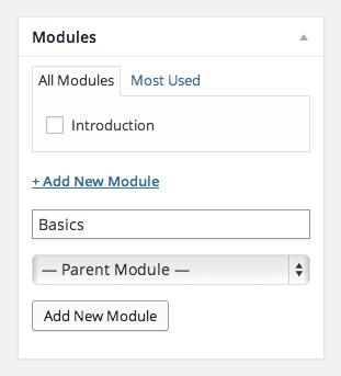 Modules Panel