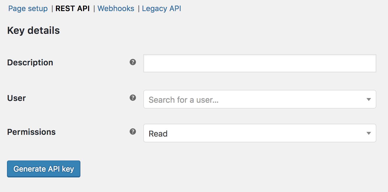 WooCommerce REST API - WooCommerce Docs