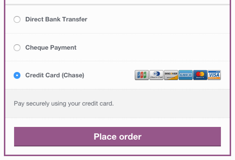 WooCommerce Chase Paymentech checkout