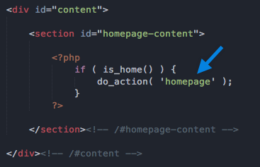 homepage action