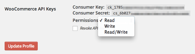WooCommerce iOS App Generate API Keys