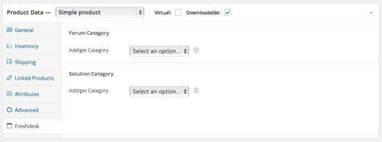 Synchronise a product with a solution category and a forum category (Blossom and higher) in Freshdesk.