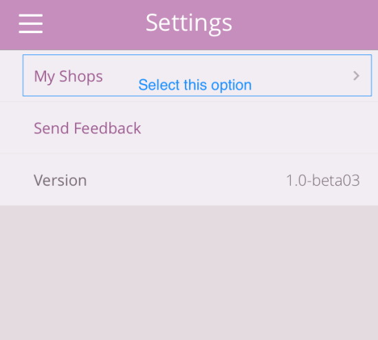 WooCommerce iOS App My shops list