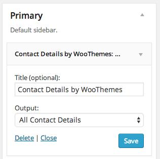 Contact Details widget