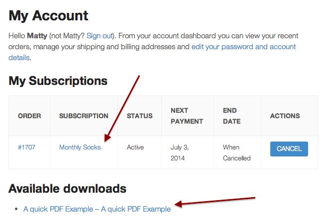 woocommerce subscription downloads woocommerce docs