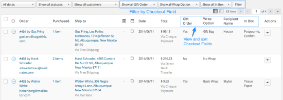 WooCommerce Checkout Addons | Sorting and Filtering Orders