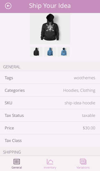 WooCommerce iOS App | General Product info