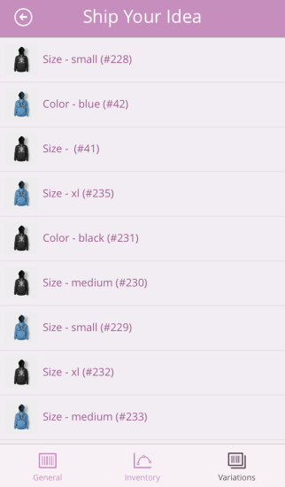 WooCommerce iOS App | Product Variations