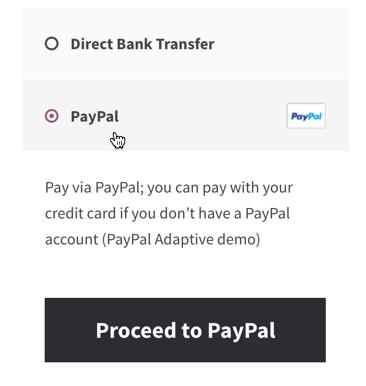 PayPal checkout option