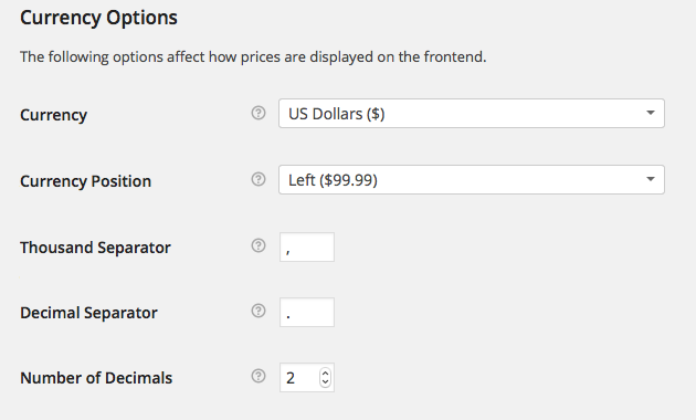 WooCommerce Currency Options
