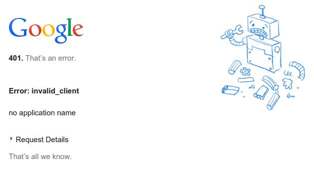 google-calendar-401-error
