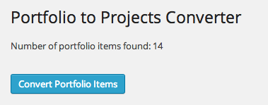 Portfolio to Projects screen