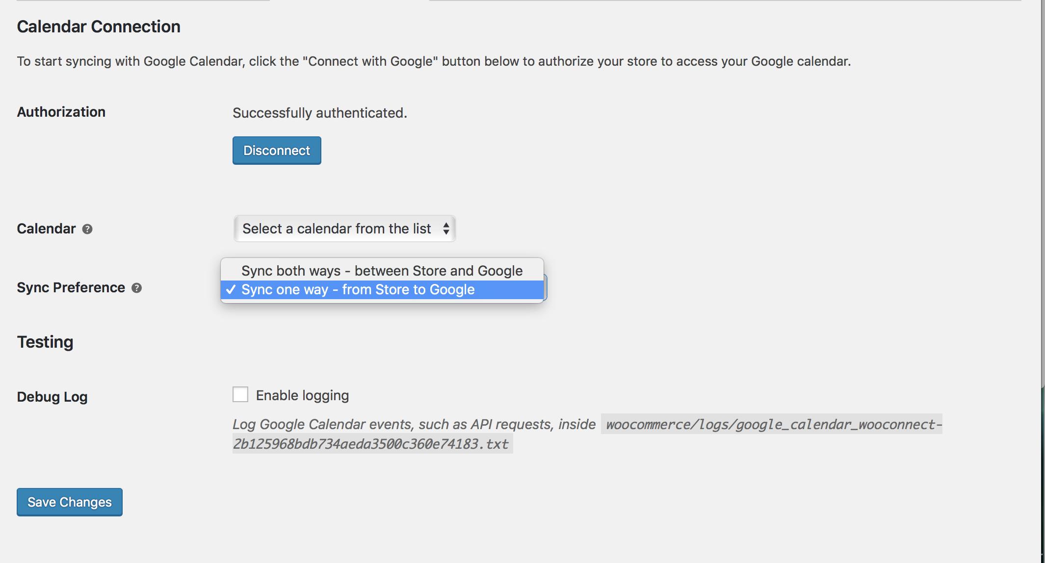 Google Calendar Integration - WooCommerce Docs