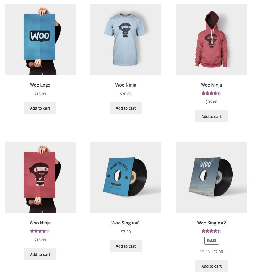 WooCommerce Nested Category Layout Before