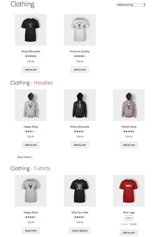 WooCommerce Nested Category Page