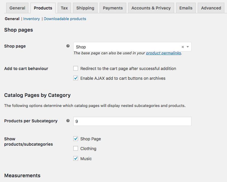 WooCommerce Nested Category Layout Settings