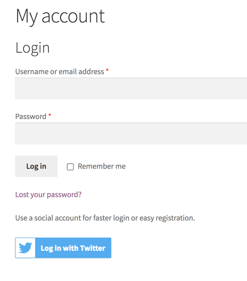 WooCommerce Memberships with Social Login button