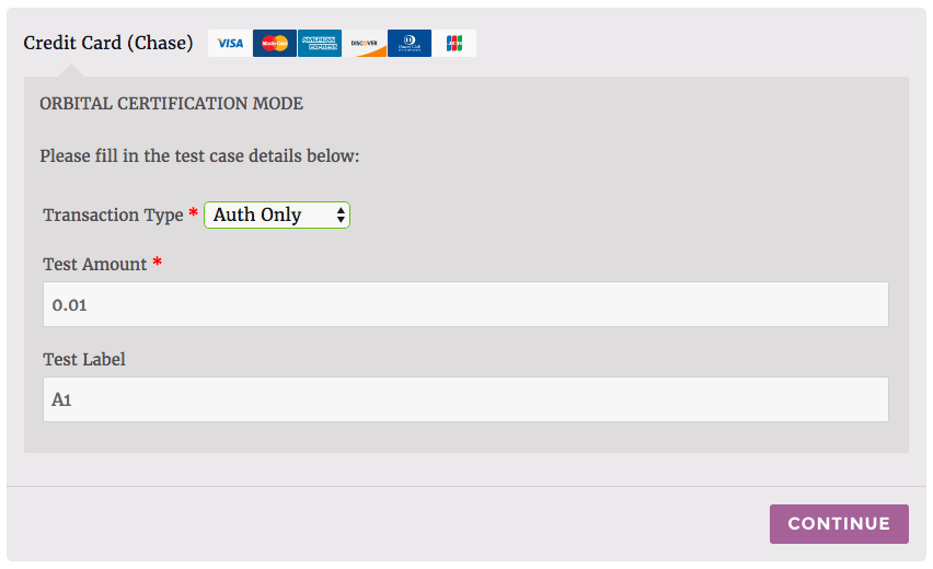 WooCommerce Chase Paymentech Select transaction type