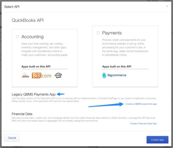 WooCommerce Intuit QBMS select app API