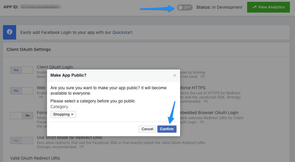 WooCommerce Social Login: Facebook set up step