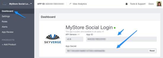 WooCommerce Social Login Facebook app credentials