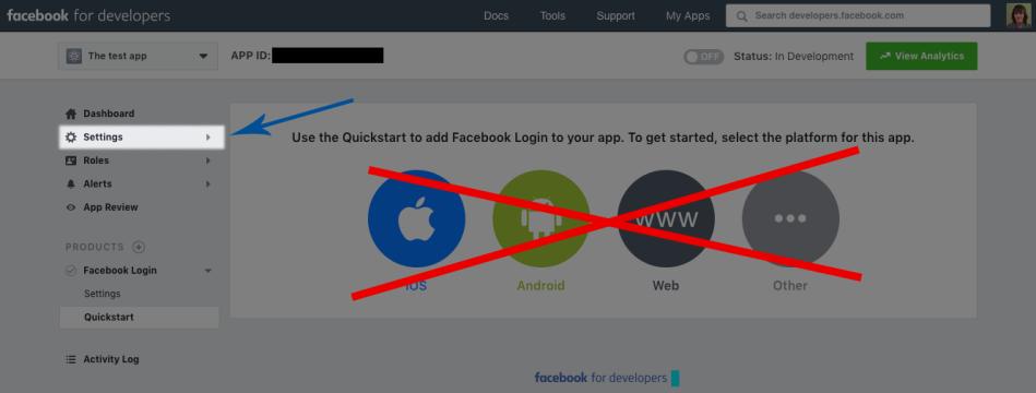 WooCommerce Social Login: Facebook set up 2