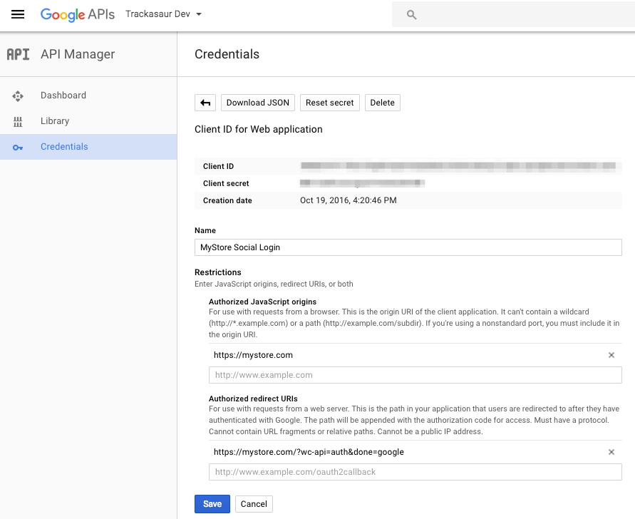 WooCommerce Social Login Google App URLs