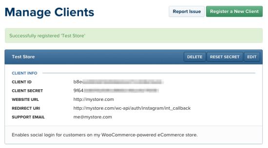 WooCommerce Social Login: Instagram app creation, step 3