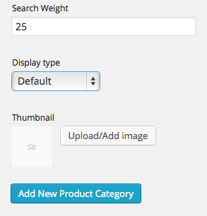 Category Search Weight