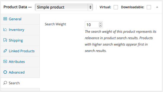 Product Search Weight