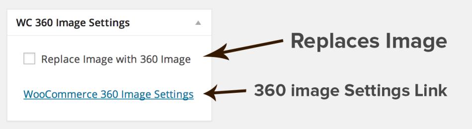 The WooCommerce 360 Image meta box