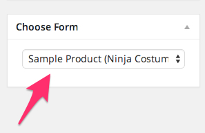 Ninja Forms Choose Form
