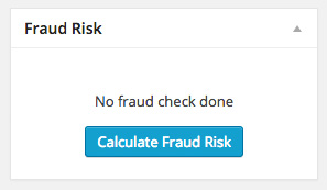 The 'Calculate Fraud Risk' button.