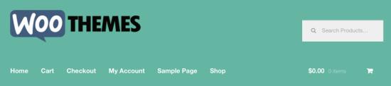 Storefront logo, after width adjustment.