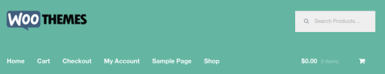 Storefront logo, with the default width.