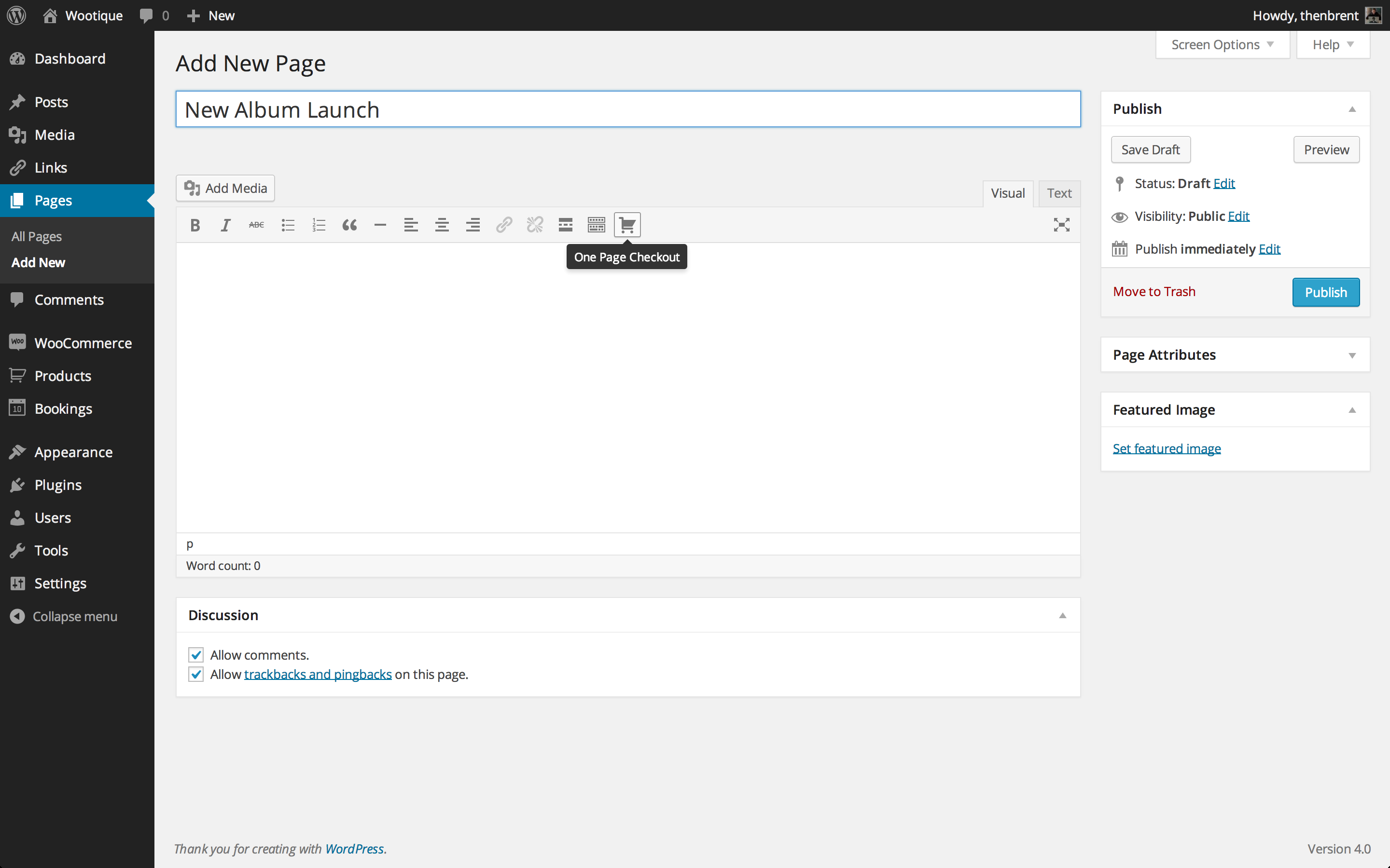 One Page Checkout Visual Editor Icon