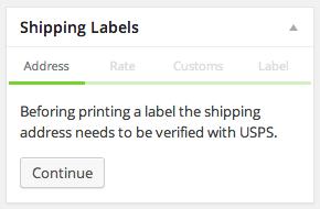 Shipping Labels meta box