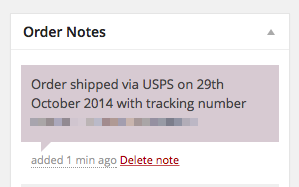 Tracking Information Customer Note
