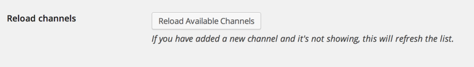 Reload Channels