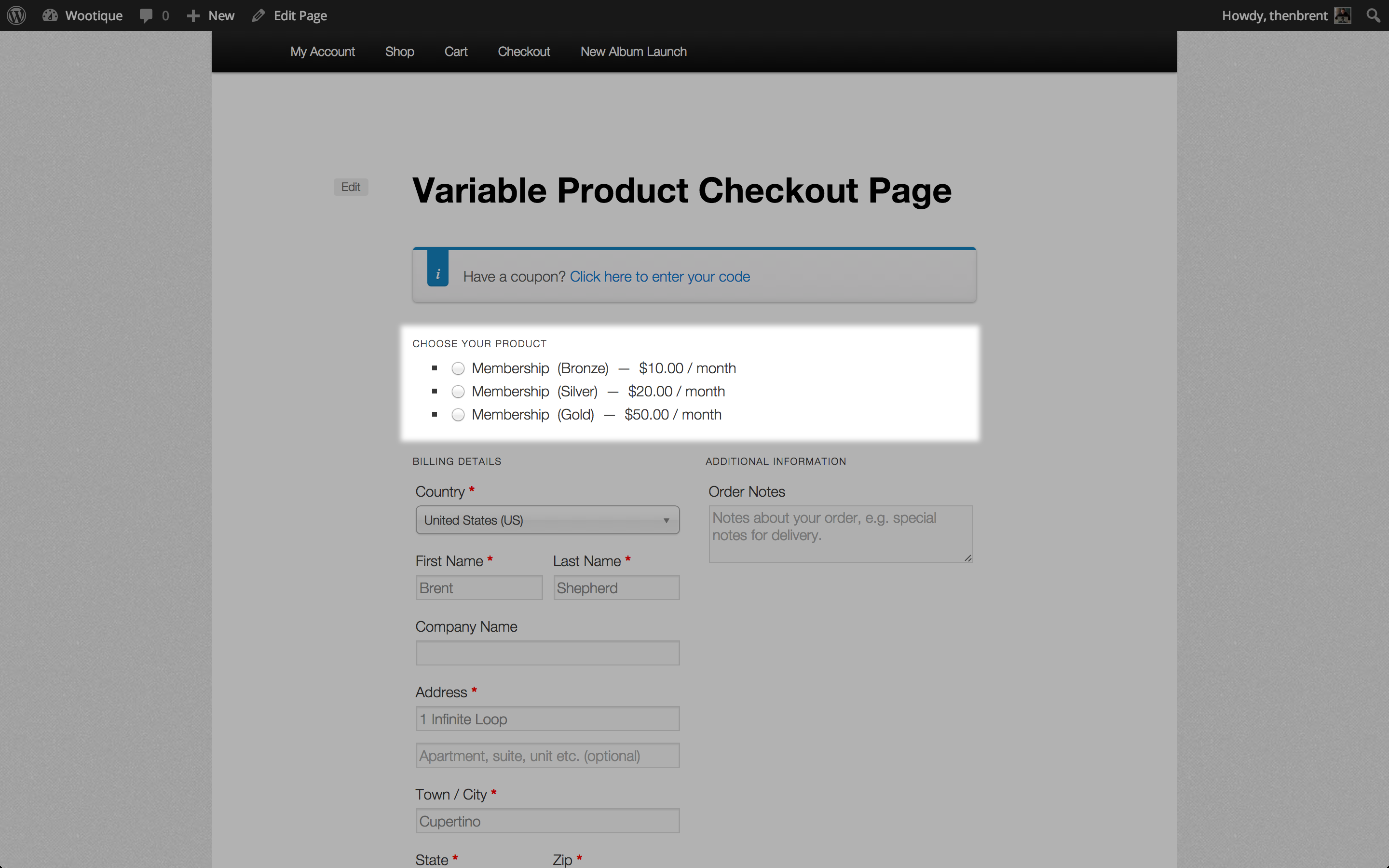 WooCommerce One Page Checkout - WooCommerce Docs